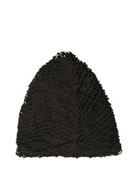 Cutuli Cult Black Laser-cut Suede Hat