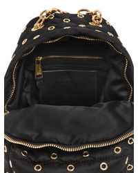 Moschino - Black Small Eyelets Quilted Nylon Backpack - Lyst