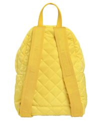 Moschino - Yellow Small Logo Quilted Nylon Backpack - Lyst