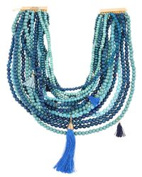 Rosantica | Blue Etna Beaded Multi-strand Necklace | Lyst