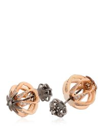 Colette | Pink Galaxia Star Cage Reversible Earrings | Lyst