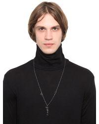 Henson - Black Carved Horn Shard Necklace for Men - Lyst