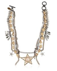 Venna | Metallic Stars Multi Chain Necklace | Lyst