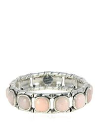Philippe Audibert | Pink Lakota Rose Agate Stretch Bracelet | Lyst