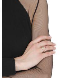 Delfina Delettrez - Metallic Marry Me Double Lips & Eye Ring - Lyst