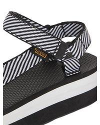 Teva Black 40mm Striped Flatform Universal Sandals