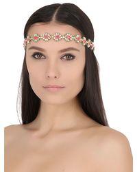 Deepa Gurnani Red Ariel Embellished Headband