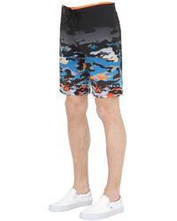 "Oakley - Black Shorts ""reverb"" In Nylon Stretch 18"" for Men - Lyst"