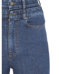 Y. Project Blue Skinny High Waisted Cotton Denim Jeans