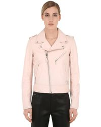 "Schott Nyc Pink Bikerjacke Aus Leder ""perfect"""