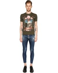 DSquared² - Green Geisha Printed Washed Jersey T-shirt for Men - Lyst