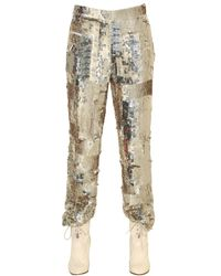 Chloé | Metallic Sequin Embroidered Pants | Lyst