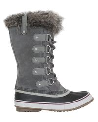 Sorel | Brown Joan Of Arctic Faux Fur & Suede Boots | Lyst
