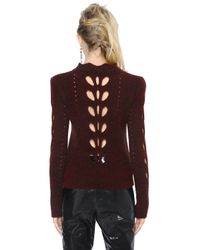 Isabel Marant - Red Open Knit Panel Jumper - Lyst