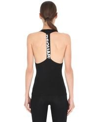 DSquared² - Black Cotton Jersey Racer Back Tank Top - Lyst