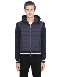 Moncler | Blue Cotton & Nylon Down Jacket for Men | Lyst
