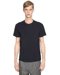 Giorgio Armani | Black Stretch Viscose Jersey T-shirt for Men | Lyst