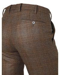 PT01 - Multicolor 18 Cm Super Slim Plaid Wool Pants for Men - Lyst