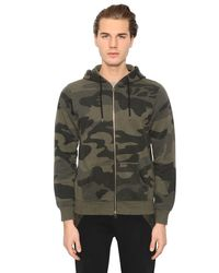 Hydrogen | Green Camouflage Cotton Zip-up Sweatshirt for Men | Lyst