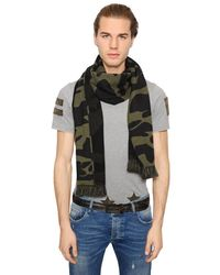 Hydrogen | Green Military Camouflage Wool Scarf for Men | Lyst