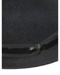 Borsalino - Black Velour Fur Felt Boss Of The Plains Hat for Men - Lyst