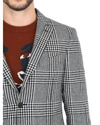 Ferragamo Multicolor Prince Of Wales Wool Jacket for men