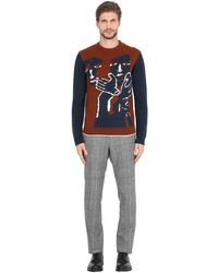 Ferragamo Multicolor Virgin Wool Jacquard Sweater for men