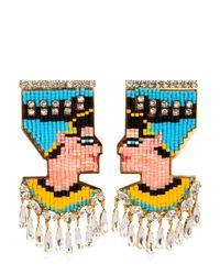 Shourouk | Metallic Nefertiti Earrings | Lyst