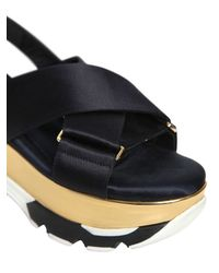 Marni Black 70mm Satin Sling Back Sandals