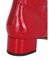 Valentino Red Faux Patent Over-The-Knee Boots