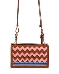 Ferragamo - Pink Small Aileen Zigzag Suede Shoulder Bag - Lyst