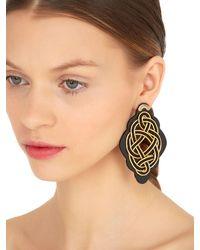 Anna E Alex - Metallic Regina Nera Wooden Frame & Rope Earrings - Lyst