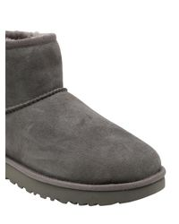Ugg | Gray Classic Mini Shearling Boots | Lyst