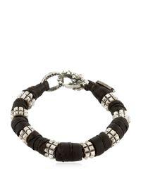KD2024 - Black Pyramid Block Bracelet for Men - Lyst