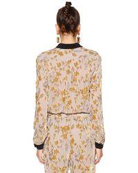Etro - Natural Floral Viscose & Silk Devore Shirt - Lyst