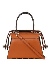 Tod's Orange Mini Leather Top Handle Bag
