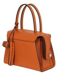 Tod's Orange Medium Leather Top Handle Bag