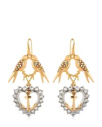 Schield | Metallic Anchor Line Earrings | Lyst