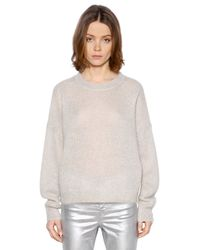Étoile Isabel Marant | Natural Loose Fit Mohair & Wool Knit Sweater | Lyst