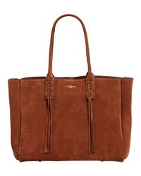 Lanvin Multicolor Suede Tote Bag With Fringed Details