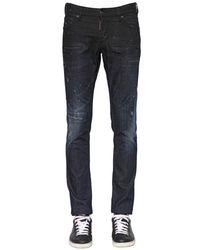 DSquared²   Blue 18cm Slim Fit Baffo Stretch Denim Jeans for Men   Lyst