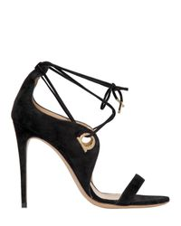 Ferragamo - Black 105mm Fandila Suede Lace-up Sandals - Lyst