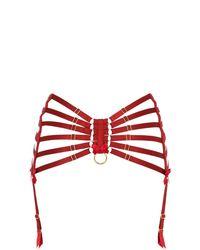 Bordelle | Black High Waisted Elastic Suspender Belt | Lyst
