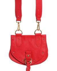 See By Chloé Red Small Collins Leather Shoulder Bag