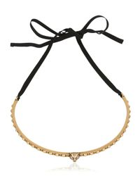 Gucci | Black Feline Chocker Necklace | Lyst