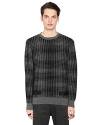 Off-White c/o Virgil Abloh - Gray Geelong Lambs Wool Plaid Sweater for Men - Lyst