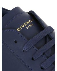 Givenchy Blue Urban Street Leather Low-Top Sneakers for men