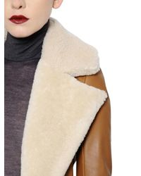 Gareth Pugh Multicolor Belted Shearling Trench Coat