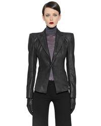 Gareth Pugh Black Nappa Leather Jacket