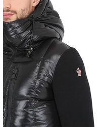 Moncler Grenoble Black Wool & Nylon Down Ski Jacket for men